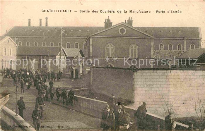 Chatellerault Ouvriers Manufacture Porte Estree Kat. Chatellerault
