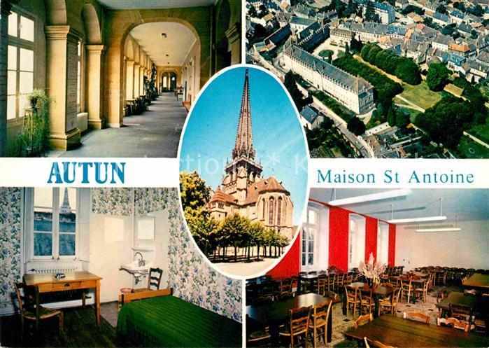 Autun Maison St Antoine Promenoir Chambre Grande salle a manger Fleche de la Cathedrale Kat. Autun
