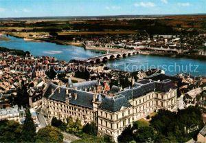 Blois Loir et Cher Chateau la ville et la Loire vue aerienne Kat. Blois