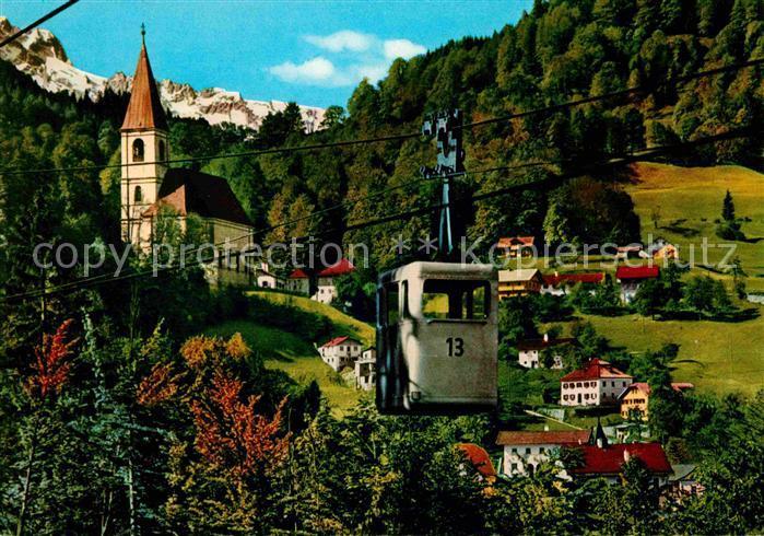 Duerrnberg Hallein Salzbergbahn Salzbergwerk Heilbad Kirche Kat. Hallein