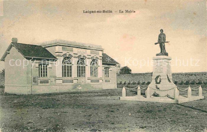 Laigne en Belin Mairie Kriegerdenkmal Kat. Laigne en Belin