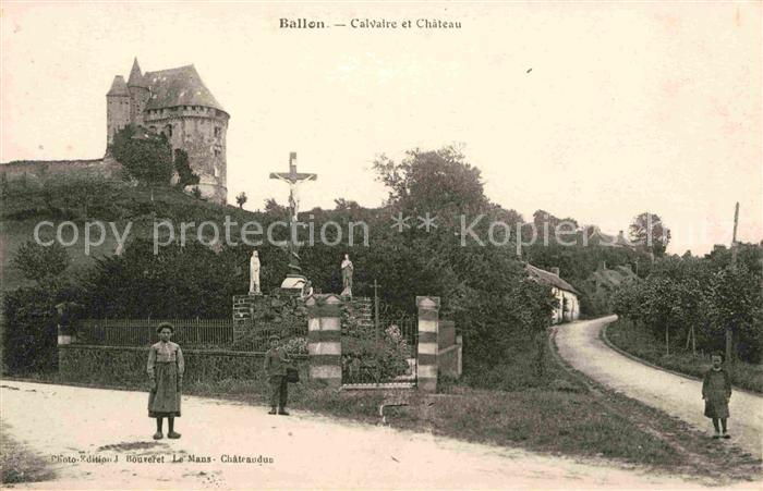Ballon Sarthe Calvaire Chateau Kat. Pays de la Loire