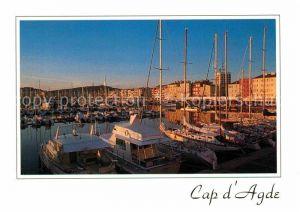 Agde Le port au coucher du soleil Kat. Agde