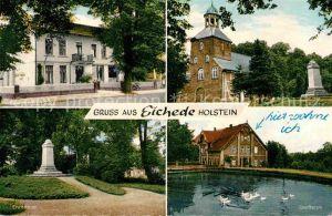 Bargteheide Eichede Ehrenmal Dorfteich Kirche Kat. Bargteheide