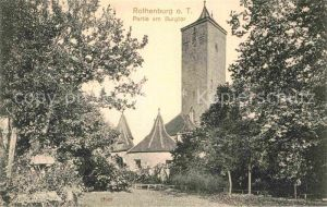 Rothenburg Tauber Partie am Burgtor Kat. Rothenburg ob der Tauber