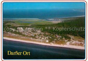 Darss Region Ostsee Fliegeraufnahme mit Leuchtturm Strand Kat. Wieck Darss