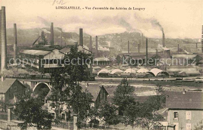Longlaville Fabrikansicht Kat. Longlaville