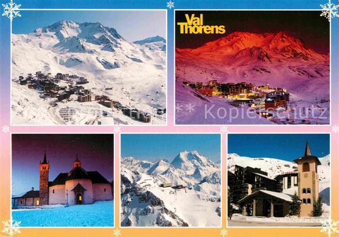 Val Thorens Savoie 3 Vallees La station de jour et de nuit Chapelle de Val Thorens Eglise Notre Dame de la Vie Kat. Saint Martin de Belleville