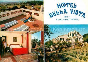 Saint Tropez Var Hotel Bella Vista Terrasse Hotelzimmer Kat. Saint Tropez