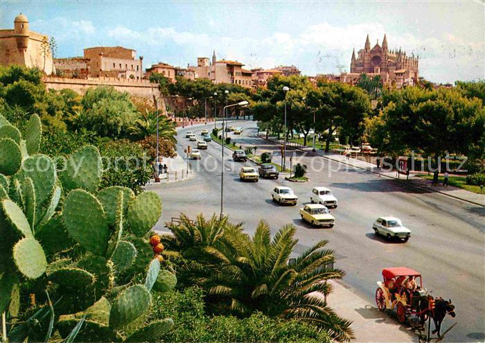 Palma de Mallorca Strassenpartie Schloss Pferdekutsche Kat. Palma de Mallorca