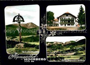 Traunstein Oberbayern Alpengasthaus Hochberg Watzmann Hochkalter  Kat. Traunstein
