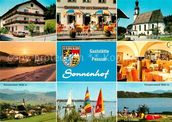 Antwort Gaststaette Sonnenhof Kirche Wendelstein Kampenwand See Kat. Bad Endorf