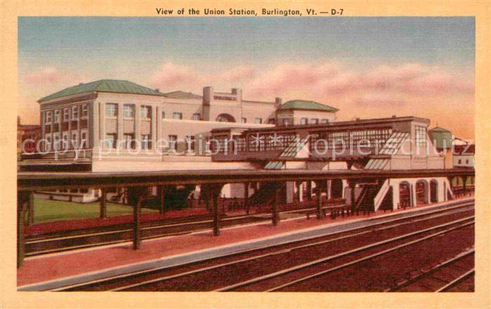 Burlington Vermont Bahnhof Kat. Burlington