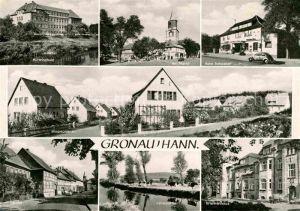 Gronau Leine Mittelschule Am Markt Leinepartie Krankenhaus Kat. Gronau (Leine)