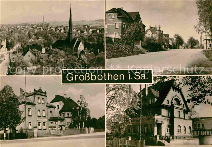 Grossbothen Kirche Hauptstrasse Schule Kat. Grossbothen
