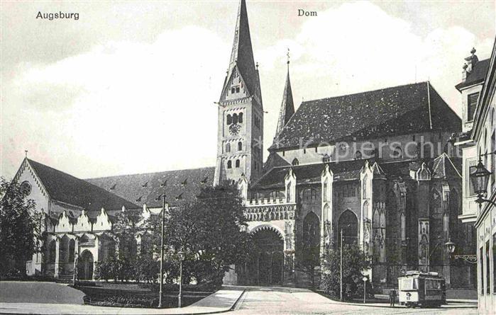 Augsburg Dom Strassenbahn Kat. Augsburg