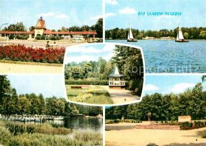 Bad Saarow Pieskow Johannes Becher Platz und Denkmal Scharmuetzelsee Schiffsanlegestelle Solquelle Kat. Bad Saarow