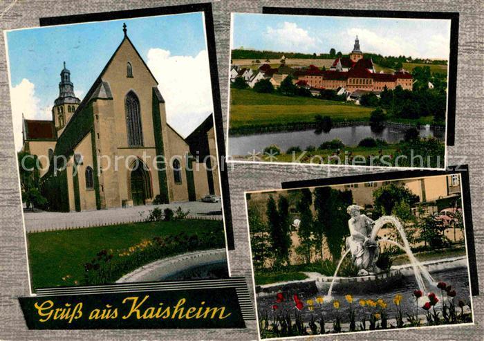Kaisheim Kirche Brunnen Panorama Kat. Kaisheim