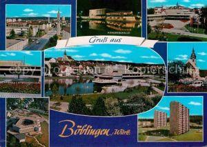Boeblingen Kongresshalle Brunnen Panorama Kat. Boeblingen