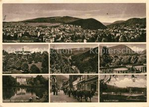 Friedrichroda Panorama Schloss Reinhardsbrunn Kurhaus Gottlob Grund Kat. Friedrichroda