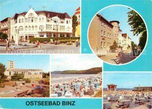 Binz Ruegen Promenade Kaufhaus FDGB Erholungsheime Rosa Luxemburg und Ruegen Strand Konzertplatz Kat. Binz