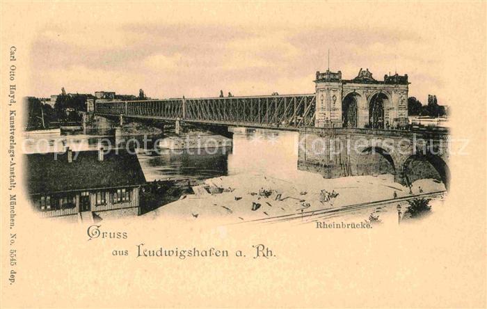 Ludwigshafen Rhein Rheinbruecke  Kat. Ludwigshafen am Rhein