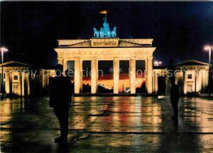 Berlin Nachts am Brandenburger Tor Quadriga Hauptstadt der DDR Kat. Berlin