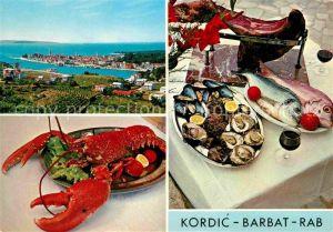 Barbat Rab Restaurant Kordic Panorama Meerblick