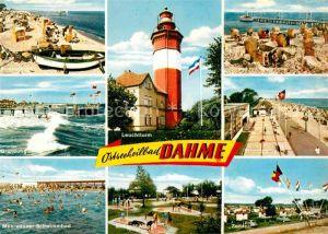 Dahme Ostseebad Strand Seebruecke Leuchtturm Brandung Strandpromenade Meerwasserschwimmbad Minigolf Zedano Kat. Dahme