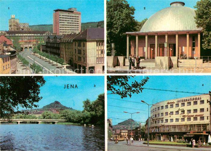 Jena Thueringen Zeiss Hochhaus Zeiss Planetarium Paradiesbruecke Interhotel International