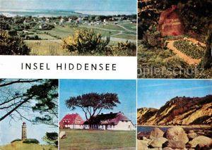 Insel Hiddensee Dornbusch Grabstaette Gerhart Hauptmanns Leuchtturm Inselhaeuser Steilkueste Kat. Insel Hiddensee
