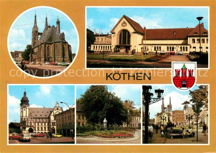 ansichtskarte k then markt jakobskirche rathaus bahnhof schule 1973 nr 127037 oldthing. Black Bedroom Furniture Sets. Home Design Ideas