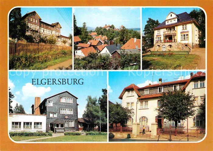 Elgersburg Reichsbahn Erholungsheim Schloss Kinderheim Adam Kuckhoff Schaeffenhaus HOG Thueringer Hof Kat. Elgersburg