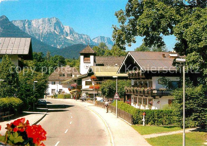 Unterstein Marktschellenberg mit Untersberg Dorfstrasse Kat. Marktschellenberg