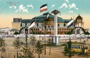 Frankfurt Main Festhalle Strassenbahn Kat. Frankfurt am Main
