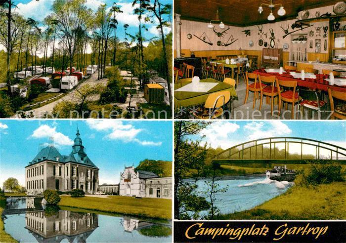 Gartrop Buehl Campingplatz Bruecke Schloss Kat. Huenxe