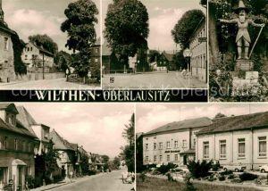 Wilthen Thaelmannplatz Bahnhofstrasse Zittauer Strasse Kat. Wilthen