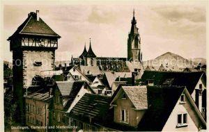Reutlingen Tuebingen Gartentor und Marienkirche