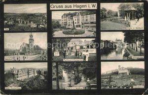 Hagen Westfalen Stadtpark Volmestrasse Bahnhof Krankenhaus Waldlust  Kat. Hagen