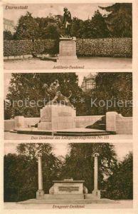 Darmstadt Artillerie Denkmal Dragoner Denkmal Kat. Darmstadt