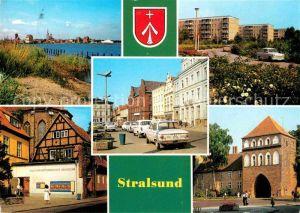Stralsund Mecklenburg Vorpommern Hafen Leninplatz Friedr Wolf Str Kulturhist Museum Kniepertor Kat. Stralsund