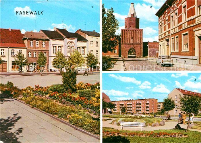 Pasewalk Mecklenburg Vorpommern Thaelmann Platz Muehlental Platz der Aufbauhelfer Kat. Pasewalk