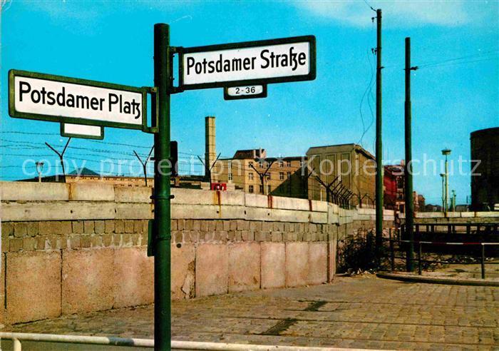 Berliner Mauer Berlin Wall Potsdamer Strasse Potsdamer Platz Kat. Berlin