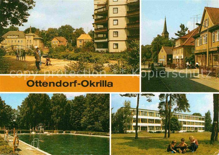 Ottendorf Okrilla Zwoelfeckhaus Teichwiesenbad Kat. Ottendorf Okrilla