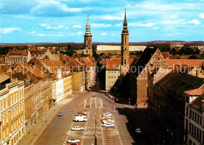 Goerlitz Sachsen Leninplatz Blick vom Reichenbacher  Turm Kat. Goerlitz
