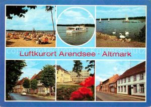 Arendsee Altmark Strand Arendsee Friedensstrasse  Kat. Arendsee