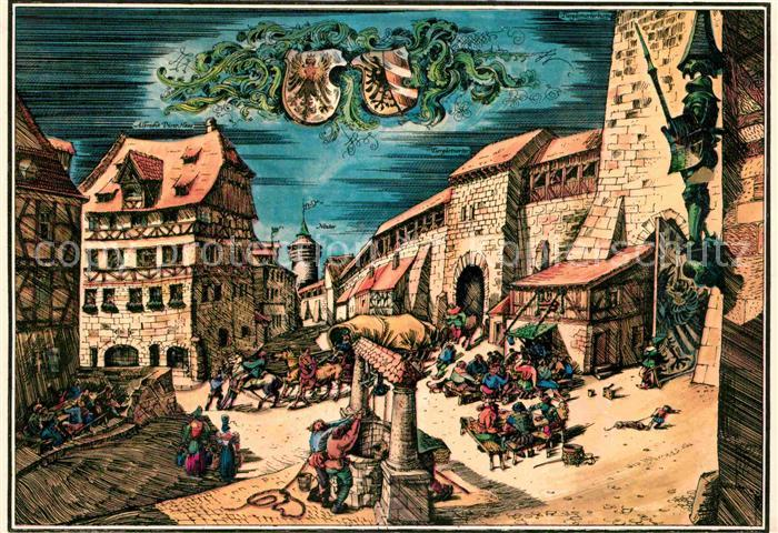 Nuernberg Kuenstlerkarte Duererhaus Tiergaertnertor  Kat. Nuernberg
