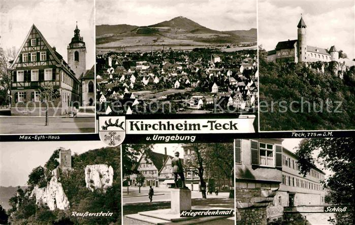 Kirchheim Teck Max Eyth Haus Teck Schloss Reussenstein  Kat. Kirchheim unter Teck