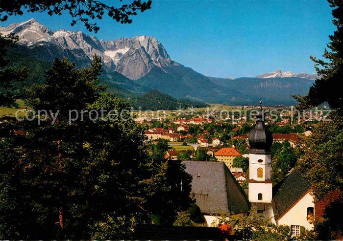 Garmisch Partenkirchen gegen Zugspitze  Kat. Garmisch Partenkirchen