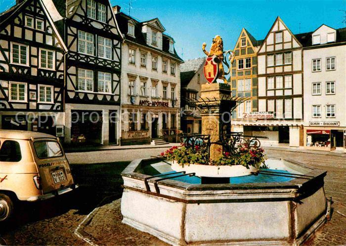 Hachenburg Westerwald Alter Markt Brunnen Kat Hachenburg